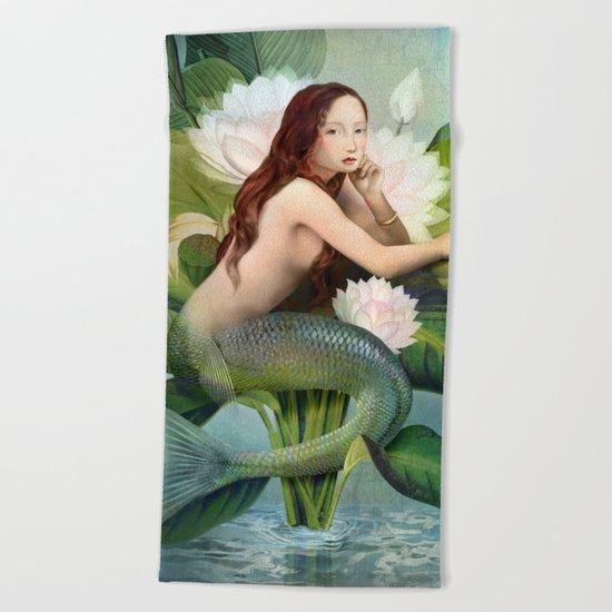 Water Garden Beach Towel