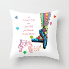In Dance And Love Throw Pillow