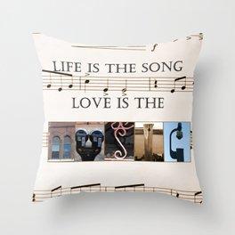 Love of Music Throw Pillow