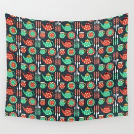 The Teapot Collection Wall Tapestry