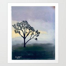 Winter Morning Mist Art Print