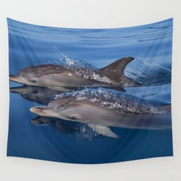Beautiful Spotted dolphins Stenella frontalis Wall Tapestry