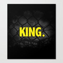 "Urban Font ""King"" Street Design Style Canvas Print"
