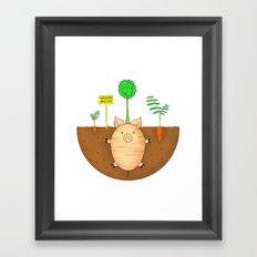 Veggie bacon Framed Art Print