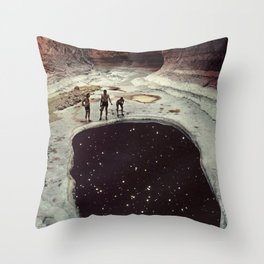Down In The Sink Hole Throw Pillow
