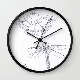 Butterfly, Dragonfly, Ladybird Wall Clock