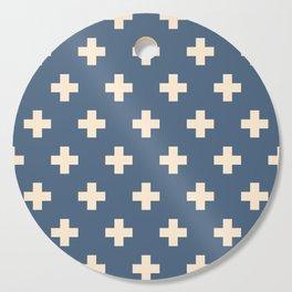 Swiss Cross Blue Cutting Board