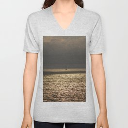 Morning Sailing at early time Unisex V-Neck
