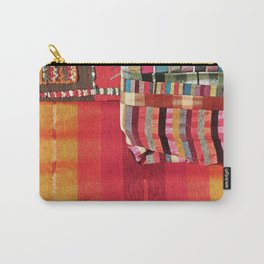 V27 Multi Colored Traditional Moroccan Lovely Textile Texture. Carry-All Pouch