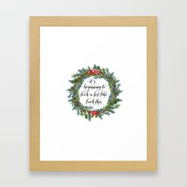 Watercolor Cuss Words - Beginning to Look Like F This Framed Art Print