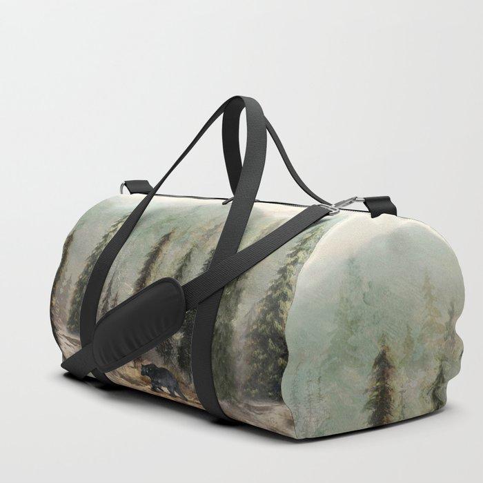 Mountain Black Bear Duffle Bag