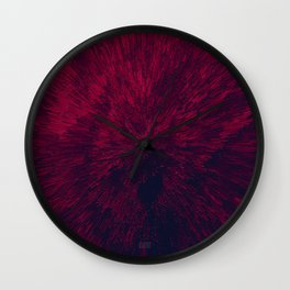 Bold Burst in Red Wall Clock