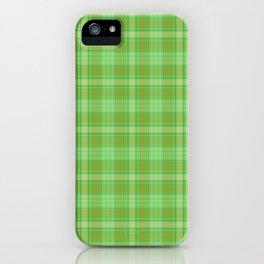 St. Patrick's Day Plaid iPhone Case