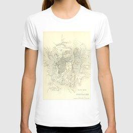 Vintage Map of Jerusalem Israel (1859) T-shirt