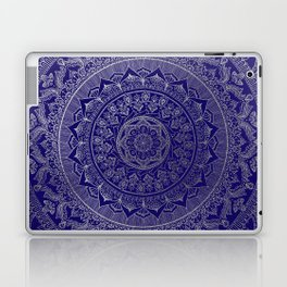 Mandala Royal - Blue & Silver Laptop & iPad Skin