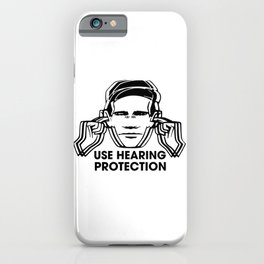 FAC 1 tribute - Factory Records - Use Hearing Protection iPhone Case