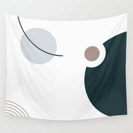 SPACCE 07// Geometric Pastel Minimalist Illustration by Wall Tapestry