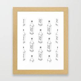 Tequila Pattern Framed Art Print