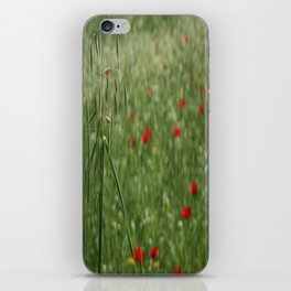 Seed Head With A Beautiful Blur of Poppies Background iPhone Skin