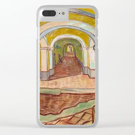 Corridor in the Asylum by Vincent Van Gogh Clear iPhone Case