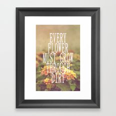 Every Flower Framed Art Print