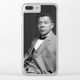 Booker T. Washington by Francis Benjamin Johnston, c. 1895 Clear iPhone Case