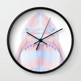 Moire Shark Wall Clock