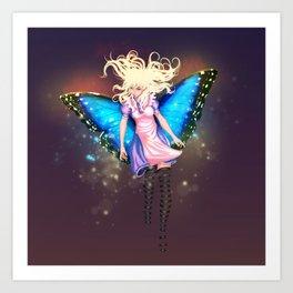 Butterfly Alice Art Print