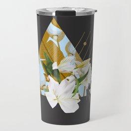 Tropical Flowers & Geometry Travel Mug