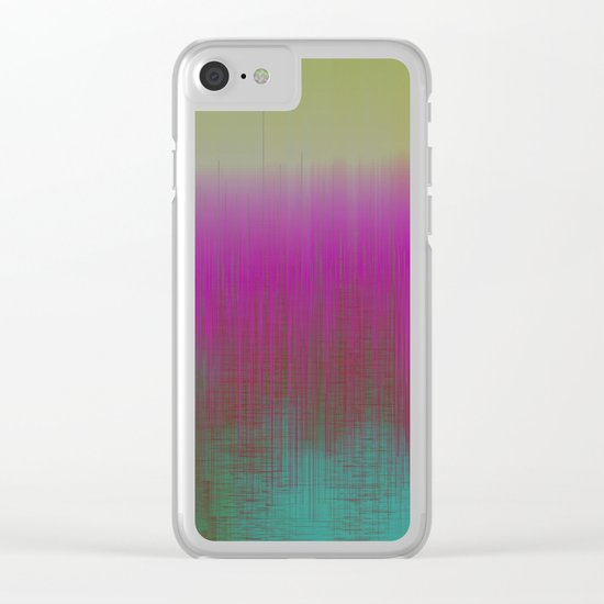 Spatial Factor 202 / Texture 30-10-16 Clear iPhone Case