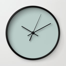Pastel Powder Light Green Solid Color Parable to Sparkling Lake 5002-3B by Valspar Wall Clock