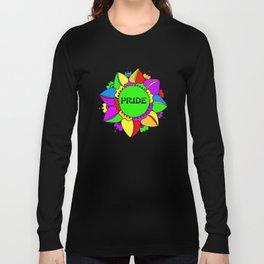 Rainbow Pride Mandala - White Background Long Sleeve T-shirt