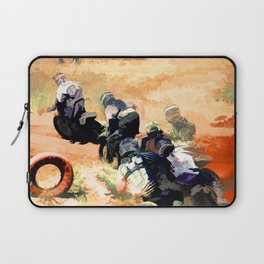Leading the Pack  - Motocross Racers Laptop Sleeve