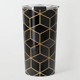 Black Cubes Travel Mug