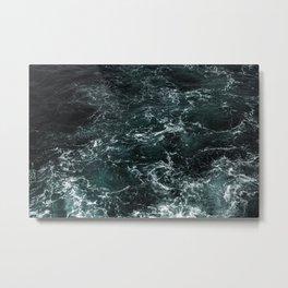 Dark Stormy Ocean Metal Print