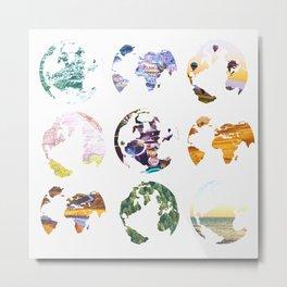 Globes Metal Print