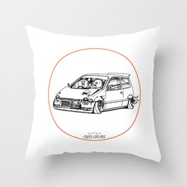 Crazy Car Art 0211 Throw Pillow