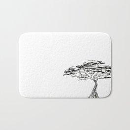 Whistling Thorn , Zen Bonsai African Tree Bath Mat