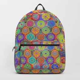 Cogflower Time Pattern by Lierre Kandel Backpack