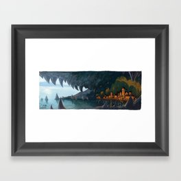 Cruel Waters Framed Art Print