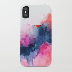 Abstract watercolor Orange Pink iPhone X Slim Case