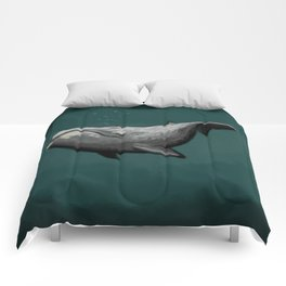 PAINT ME LIKE YOUR FRENCH WHALES Comforters