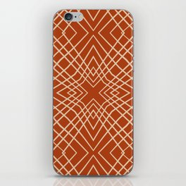 Abstract Decorative Pattern 44 - Cashmere, Fiery Orange iPhone Skin