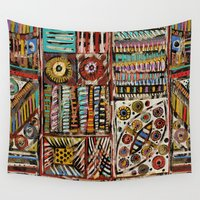africa Wall Tapestries featuring Africa by Helene Michau
