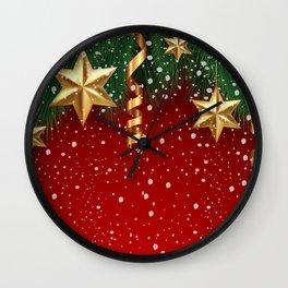 Christmas shopwindow Wall Clock