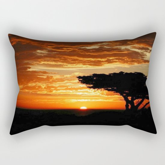 Fiery Dragon Rectangular Pillow