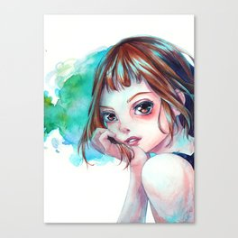 Ochako in Teal Canvas Print