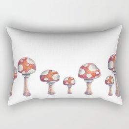Fire Mushroom Rectangular Pillow