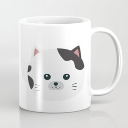 White Cat with spotted fur Coffee Mug