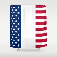 france Shower Curtains featuring france by ovisum